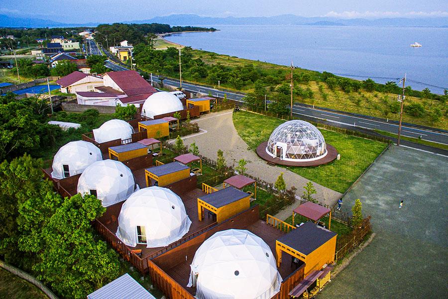 大型のグランピングドーム